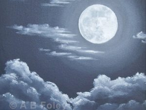 """Clouds Under a Full Moon"""