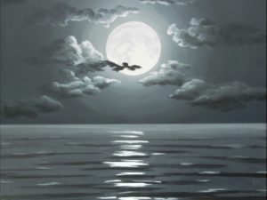 Full Moon Over the Dark Sea