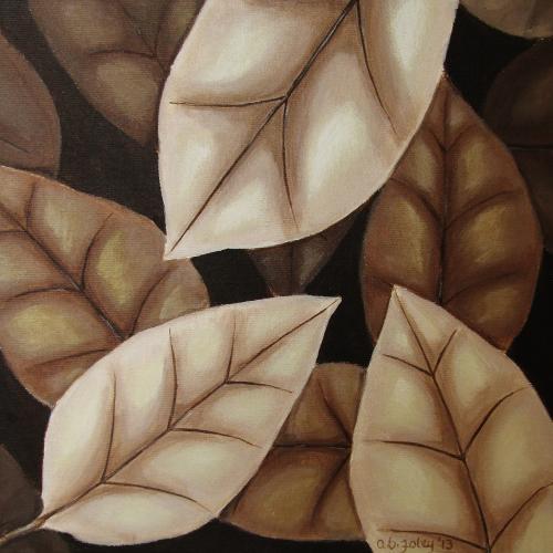 Autumn Leaves in Sepia