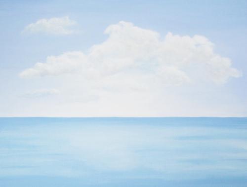 Calm Sea Under Fair Skies