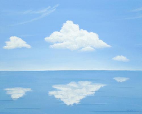 Clouds Over a Calm Sea