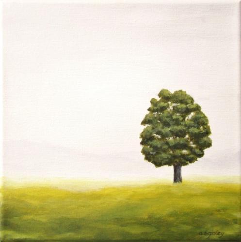 Lone Tree on a Foggy Day