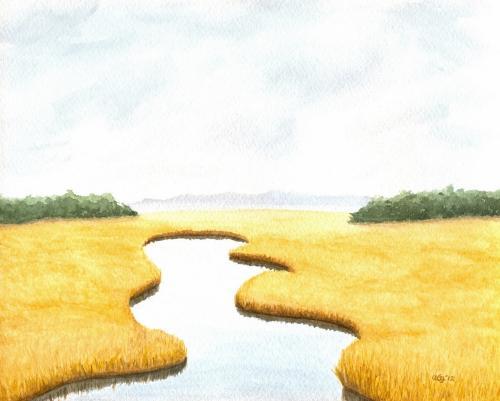 Salt Marsh, Overcast