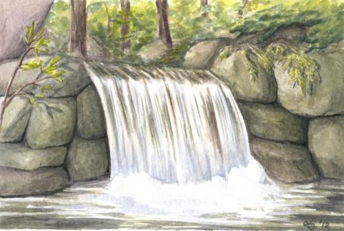 Small Woodland Waterfall